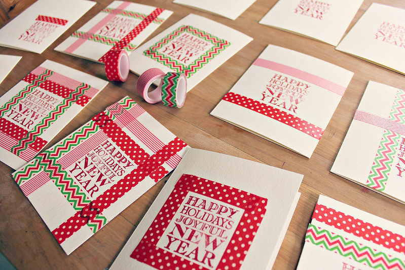Easy Homemade Christmas Cards: Washi Tape Holiday Cards ...