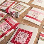 Easy Homemade Christmas Cards: Washi Tape Holiday Cards