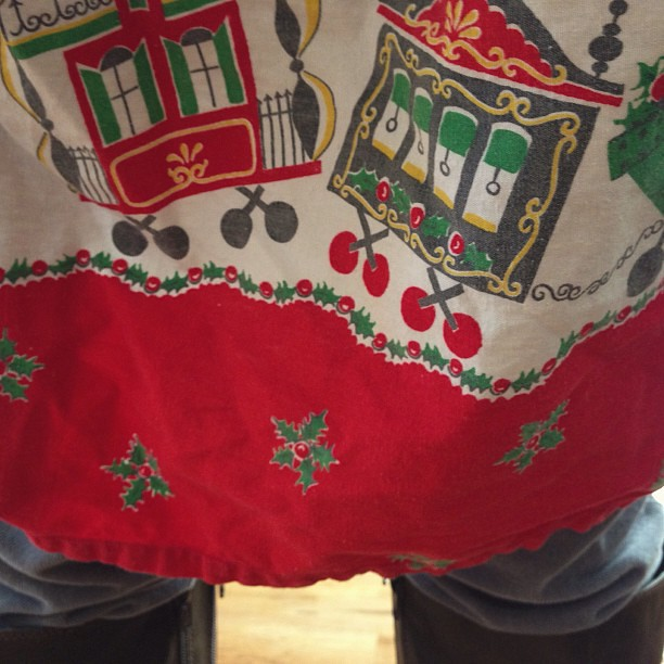 Let the #christmas cooking begin! #vintage #apron