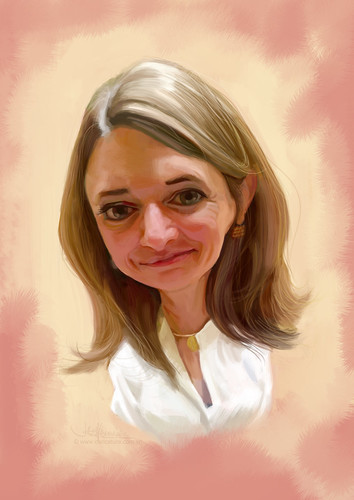 digital caricature of Lisa Watson for Hewlett Packard