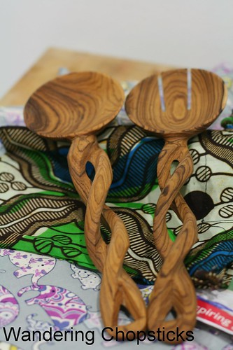 World Vision Hand-Carved Kenyan Olive Wood Serving Spoons Giveaway 2