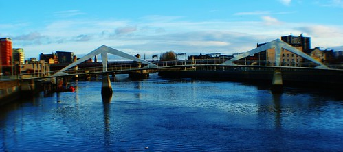 Broomielaw-Tradeston or 'Squiggly' Bridge, Glasgow
