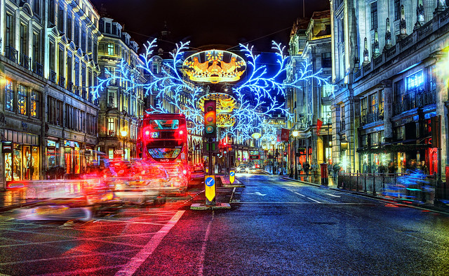 Regent's St Xmas Lights