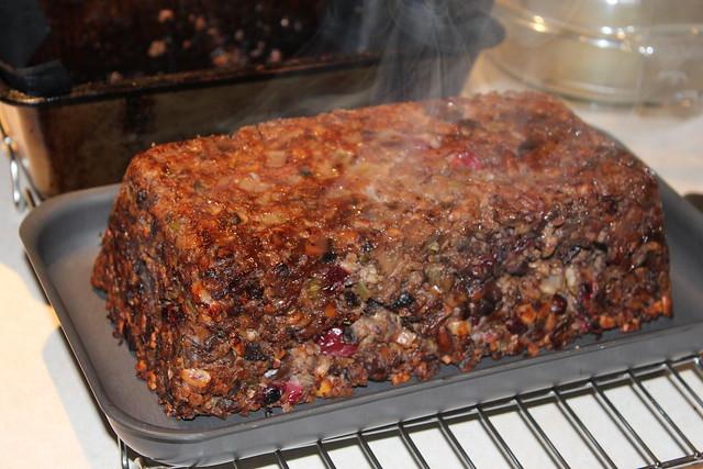 Cranberry & Mushroom Nut Loaf