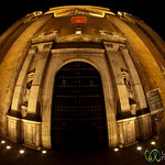 Merida Cathedral at Night, Fisheye - Yucatan, Mexico