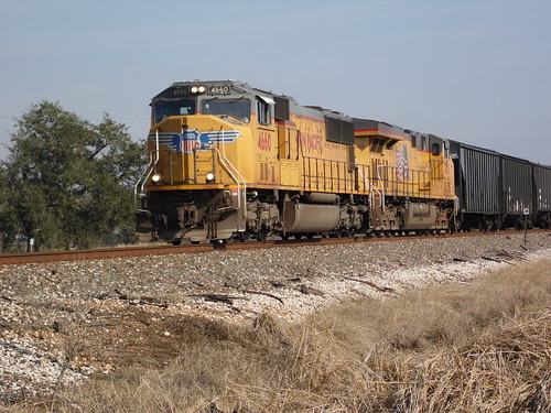 UP 4660,UP 7418, Out of the city limits of Crowley, Louisiana