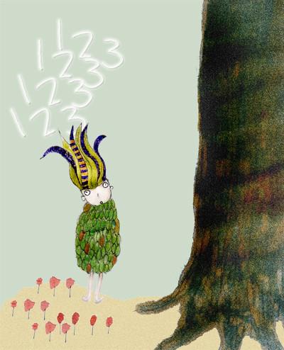 樹的靈魂 我必須說網路是神奇的。2012年5月,一位來自土耳自然寫作散文家透過網路找上了我。寫了一個關於紙的故事。我不懂土耳其文,但知道整個故事在宣導「珍惜用紙」的概念。而他要我畫的是:一張紙代表一棵樹的靈魂,在紙上寫字,也就是在訴說這棵樹所要講的每件事。然後要好好的珍惜紙張。