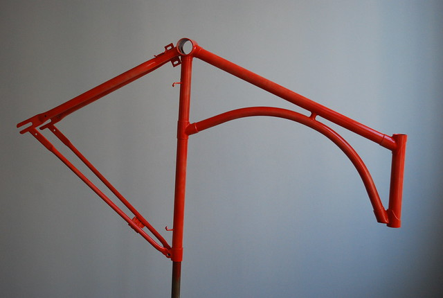 Frame in blood orange red.