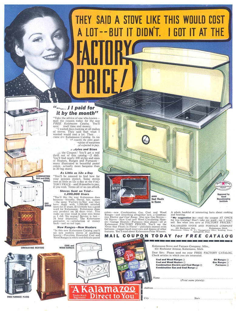 Kalamazoo Stove and Furnace Company - 19371000 Country Gentleman