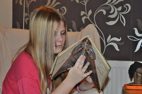 Charlotte reading shortbread recipes by PhylB