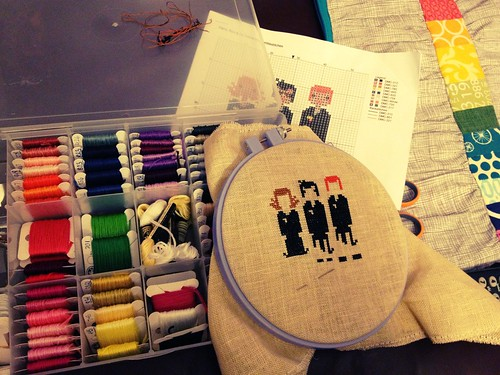 Cross-stitchin'