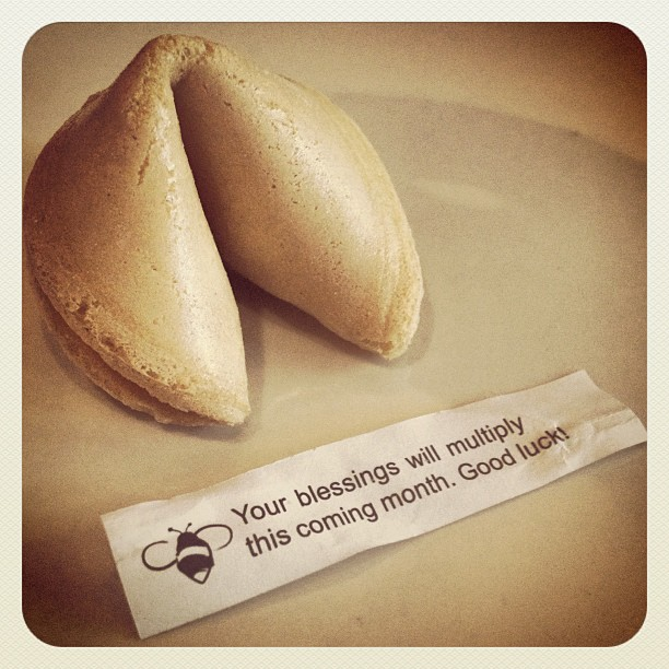 Can't wait for this one to come true... #fortunecookie #blessings #fortune