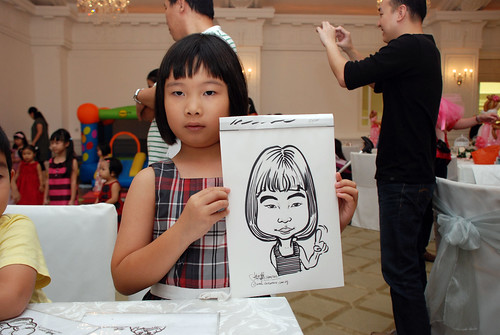 caricature live sketching for birthday party 28042012 - 10
