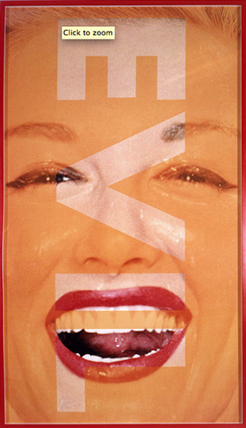 Barbara Kruger, Untitled (EVIL), 2001, Photograph 350x