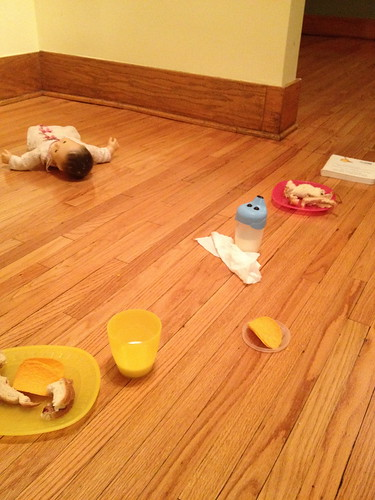 dinner on the floor