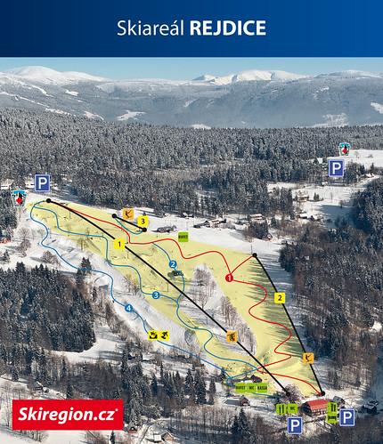 Rejdice - mapa sjezdovek