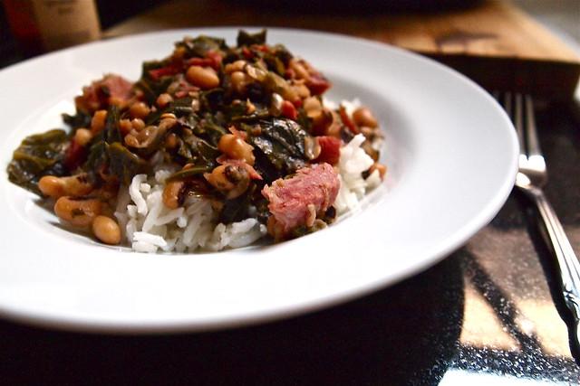 Hoppin' John collard stew