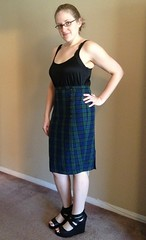 Plaid Pencil Skirt - After