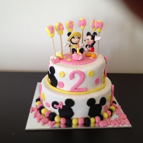 #mickey#minnie#sugarpaste#cake by l'atelier de ronitte