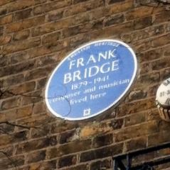 Photo of Frank Bridge blue plaque