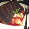 A little slice of chocolate with my berries #gobigorgohome