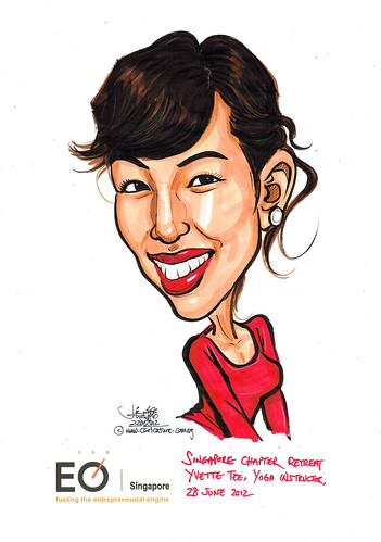 Yvette Tee caricature for EO Singapore