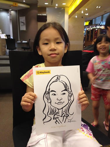 caricature live sketching for Maybank Roadshow - 10