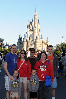 At the Magic Kingdom with Grandma and Papa