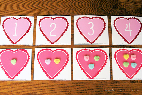 Valentine Numbers and Counters Variation