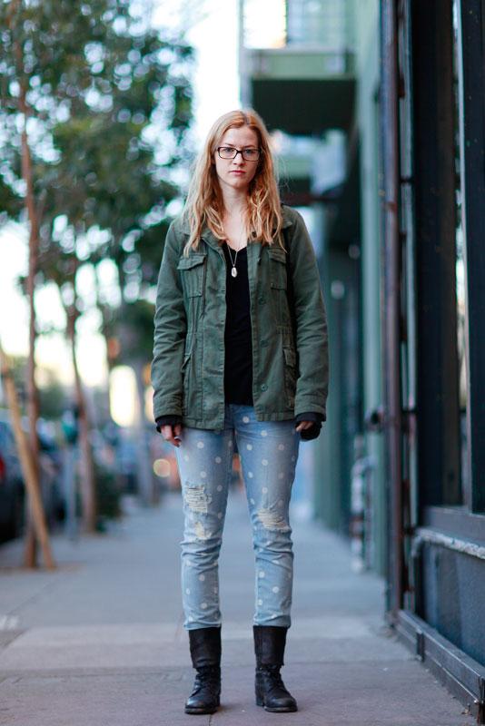 erin_4b street style, street fashion, women, Valencia Street, San Francisco
