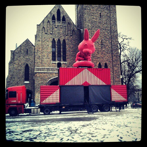in bunny we trust #flagey #brussels #anime