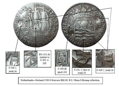 Netherlands 1790 6 Stuivers