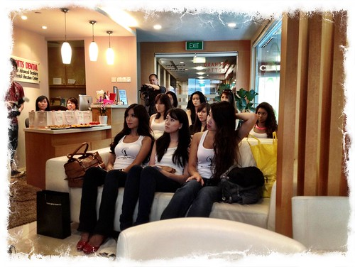 caricature live sketching for Orchard Scotts Dental for Miss Universe Singapore - a
