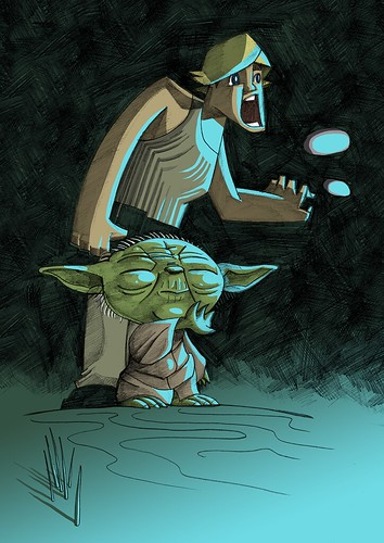 Yoda and Luke by JAM-WAH