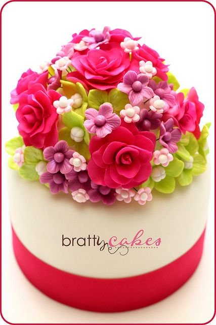 Floral Bouquet Cake by Natty-Cakes (Natalie)