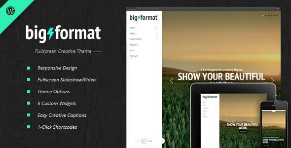 BigFormat v1.4.3 - Responsive Fullscreen Wordpress Theme