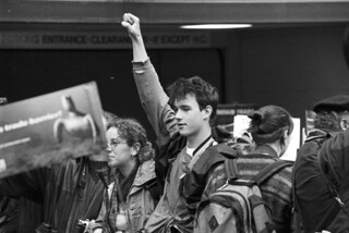WTO protestor, 1999