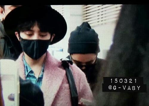 Big Bang - Incheon Airport - 21mar2015 - G-Dragon - G_Vaby - 04