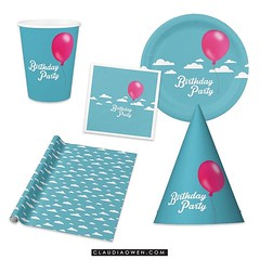So matchy-matchy! Party hats, paper plates, napkins, wrapping paper, paper cups and lots more! You can find it @zazzle #party #birthday #zazzle #partysupplies http://www.zazzle.com/claudiaowenshop