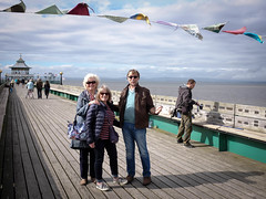 Anne, Heather and John on Clevedon Pier