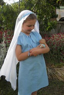 Maya's Mary Costume for the Nativity Play