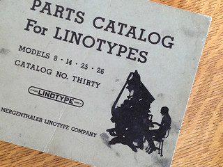 Parts Catalog for Linotypes, #30