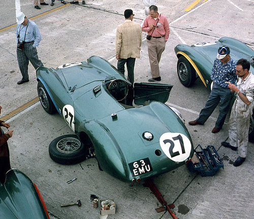 Shelby's Aston Martin at Sebring 1956 by Nigel Smuckatelli