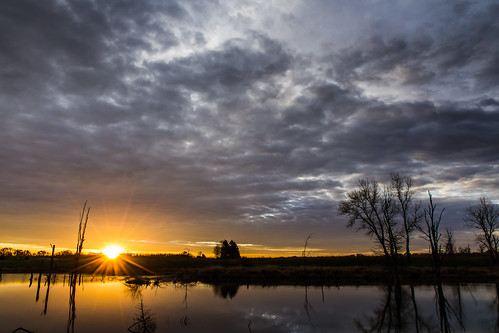 winter sky nature water clouds sunrise canon landscape outdoors pond overcast 7d cloudysky stormclouds buschwildlife canon7d