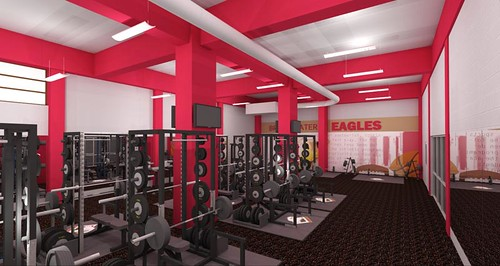 Nininger  Strength and Conditioning Room Rendering
