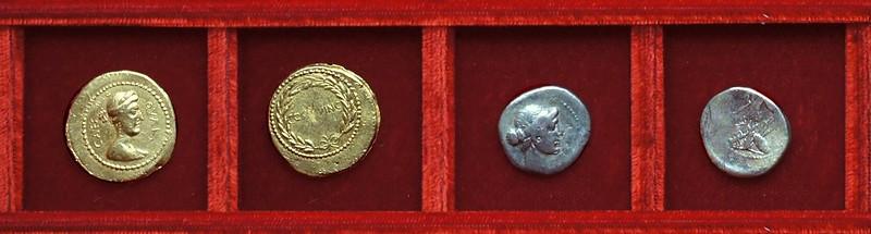 RRC 481 CAES DIC QVAR COS QVINC Julius Caesar, RRC 482 CAESAR IMP Octavian, Ahala collection Roman Republic
