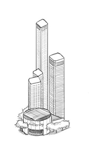 Raffles City drawing style