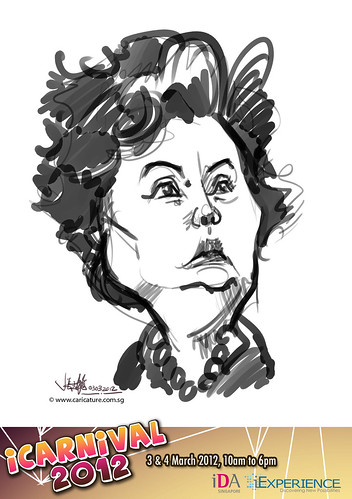 digital live caricature for iCarnival 2012  (IDA) - Day 1 - 42