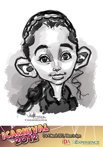 digital live caricature for iCarnival 2012  (IDA) - Day 1 - 99