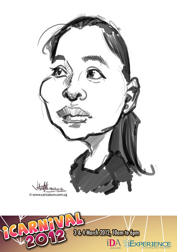 digital live caricature for iCarnival 2012  (IDA) - Day 2 - 42